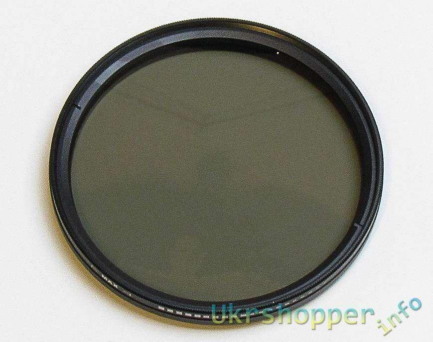 Aliexpress: Обзор переменного нейтрально серого светофильтра Nicna, диаметром 77 мм