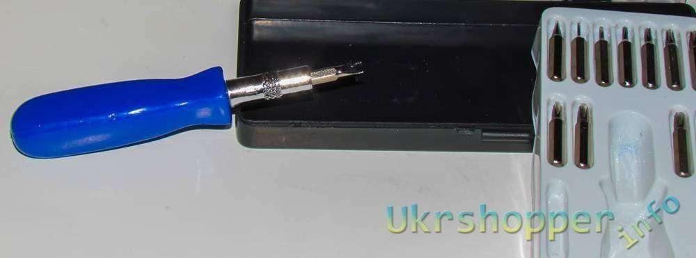DealExtreme: Обзор небольшого но очень нужного набора - отвертка и биты