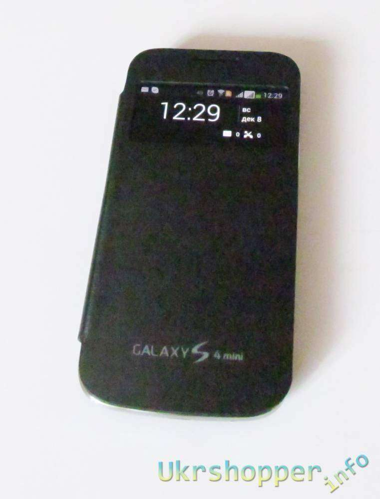 Aliexpress: Обзор 'смарт' чехла S View для Samsung I9192 Galaxy S4 Mini