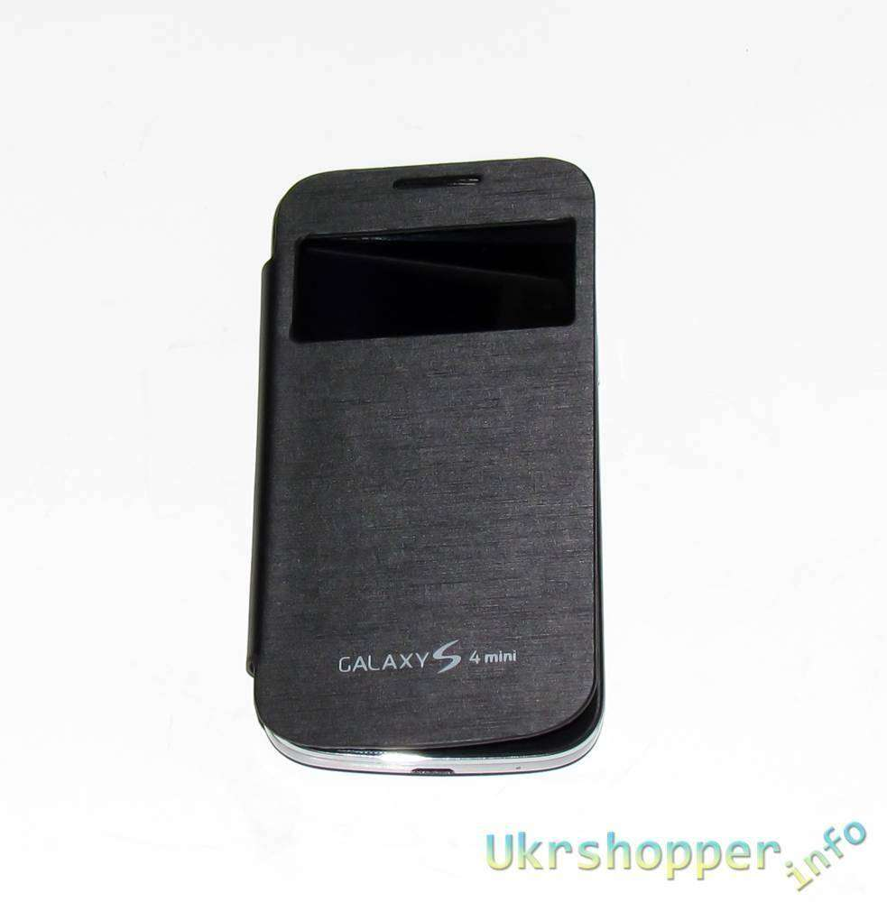 Aliexpress: Обзор 'смарт' чехла S View для Samsung I9192 Galaxy S4 Mini