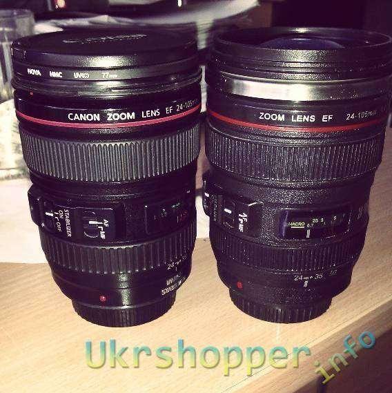 Aliexpress: Чашка в виде объектива Canon 24-105 mm f 4 L