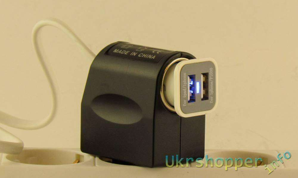 Tmart: Автомобильная зарядка с двумя USB портами на 1А за 99 центов