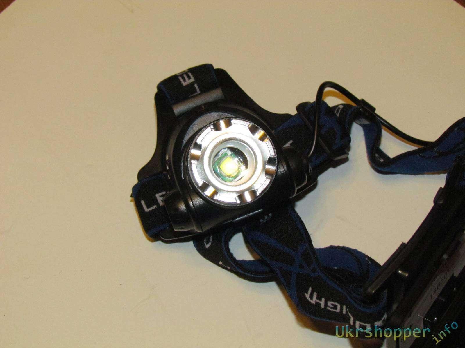 Aliexpress: Налобный яркий фонарь на диоде T6