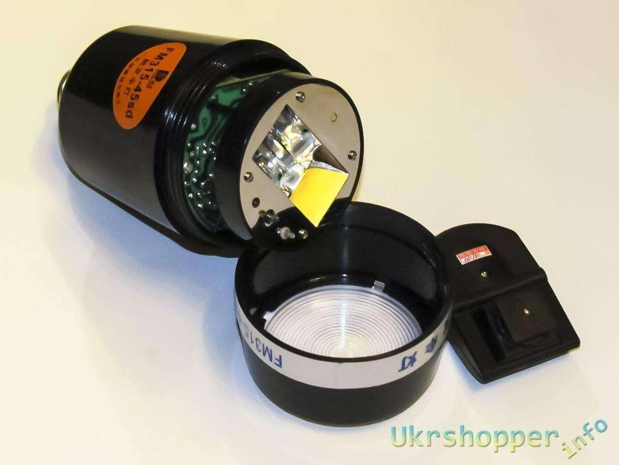 DealExtreme: Фотовспышка с цоколем Е27 и передатчиком