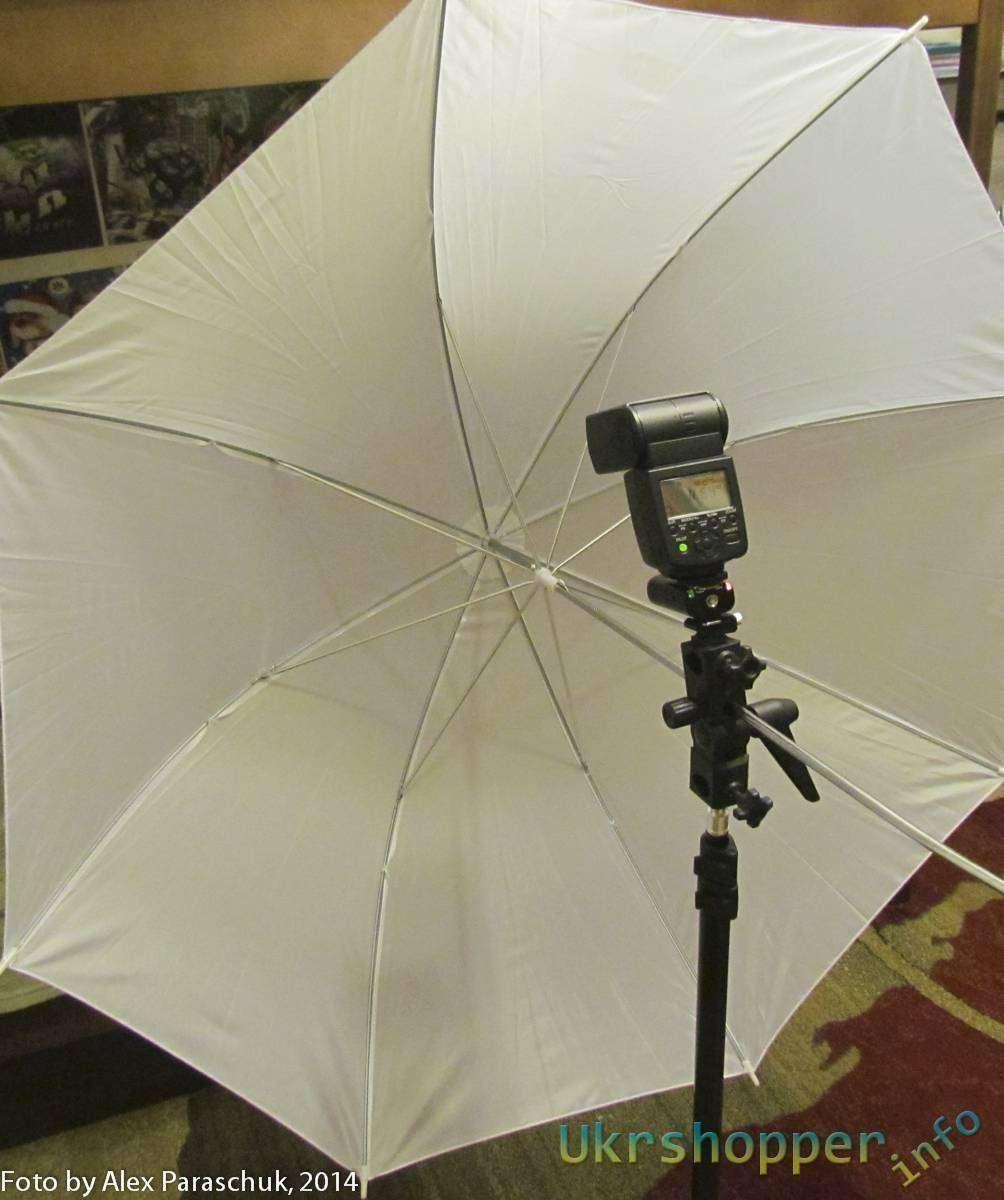Aliexpress: Белый фотозонт на просвет, 103 см