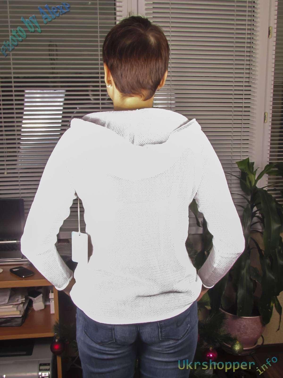 6pm: Легкая женская сетчатая толстовка с капюшоном