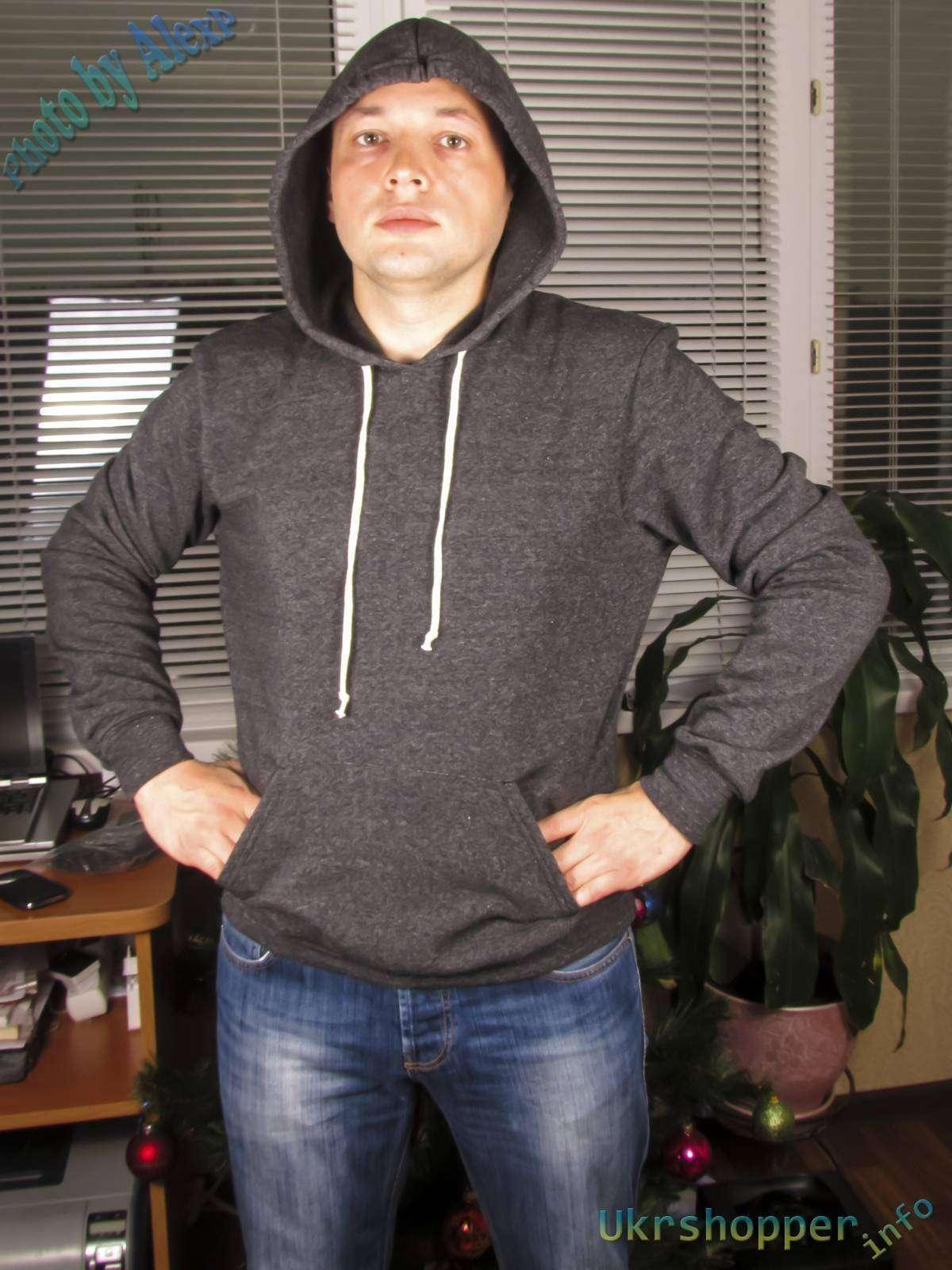 Amazon: Еще один обзор одежды купленной в США - мужская толстовка с капюшоном