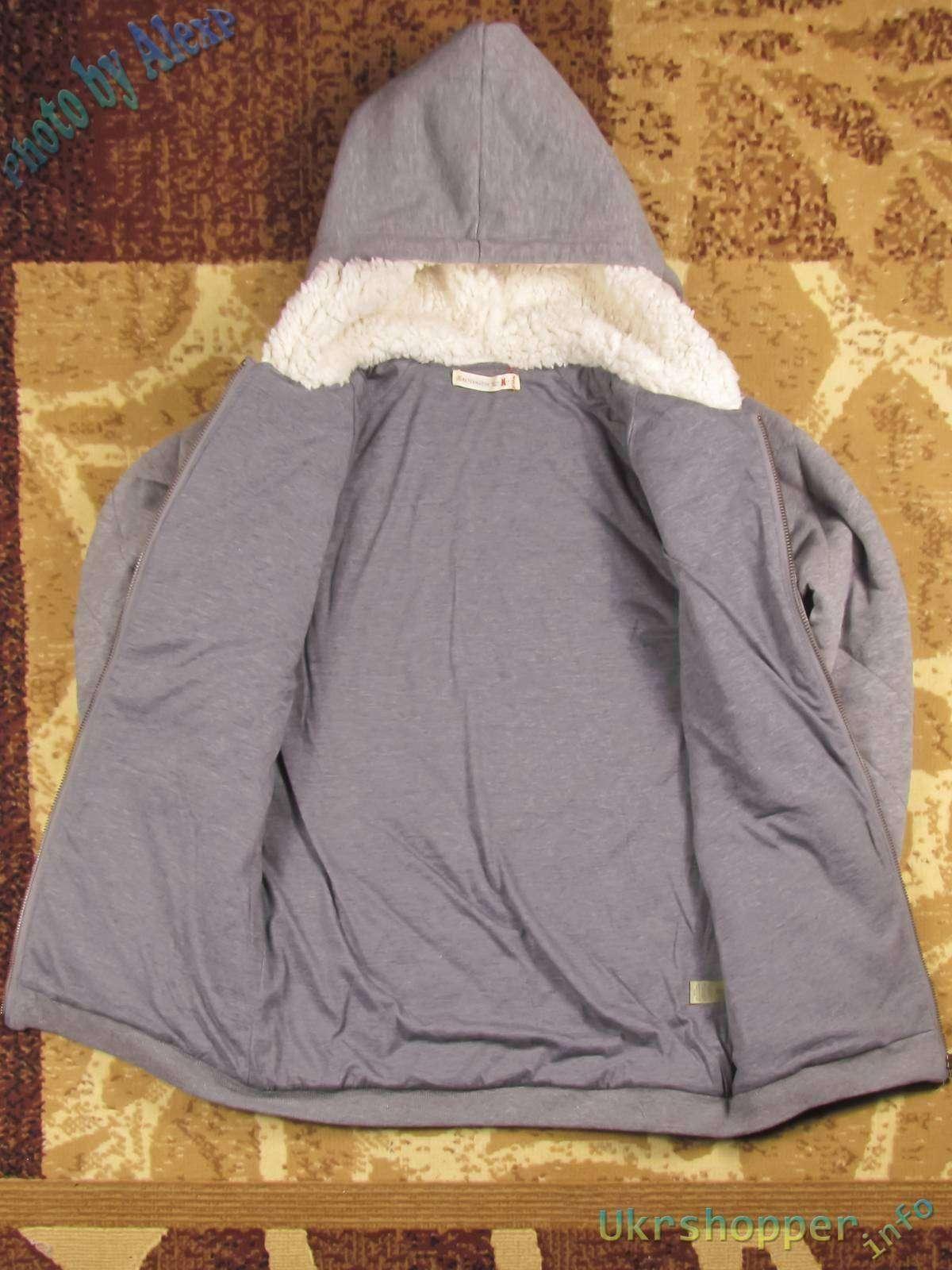 Amazon: Женская теплая кофта на молнии с капюшоном