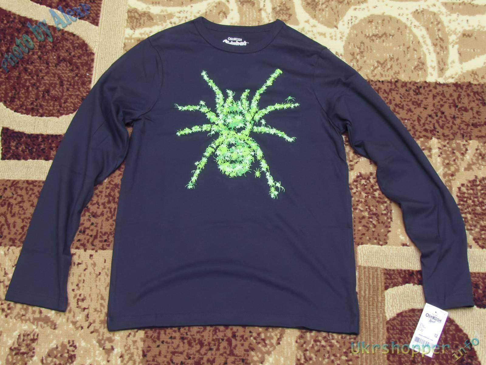 Другие - США: Обзор детской кофты OshKosh с пауком