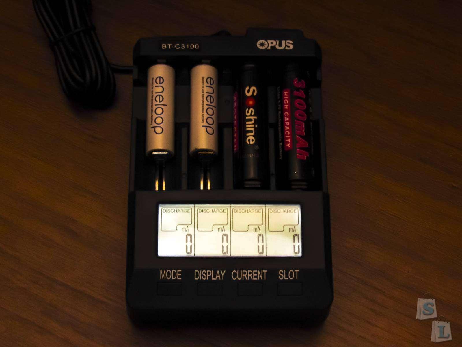 GearBest: Всеядная зарядка для NiCd/NiMH/Li-ion аккумуляторов - Opus BT - C3100 V2.1