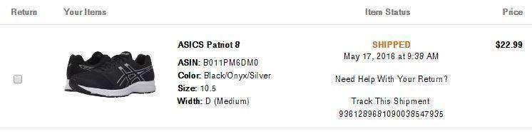 6pm: Кроссовки ASICS Patriot 8 - с очень удачной ценой