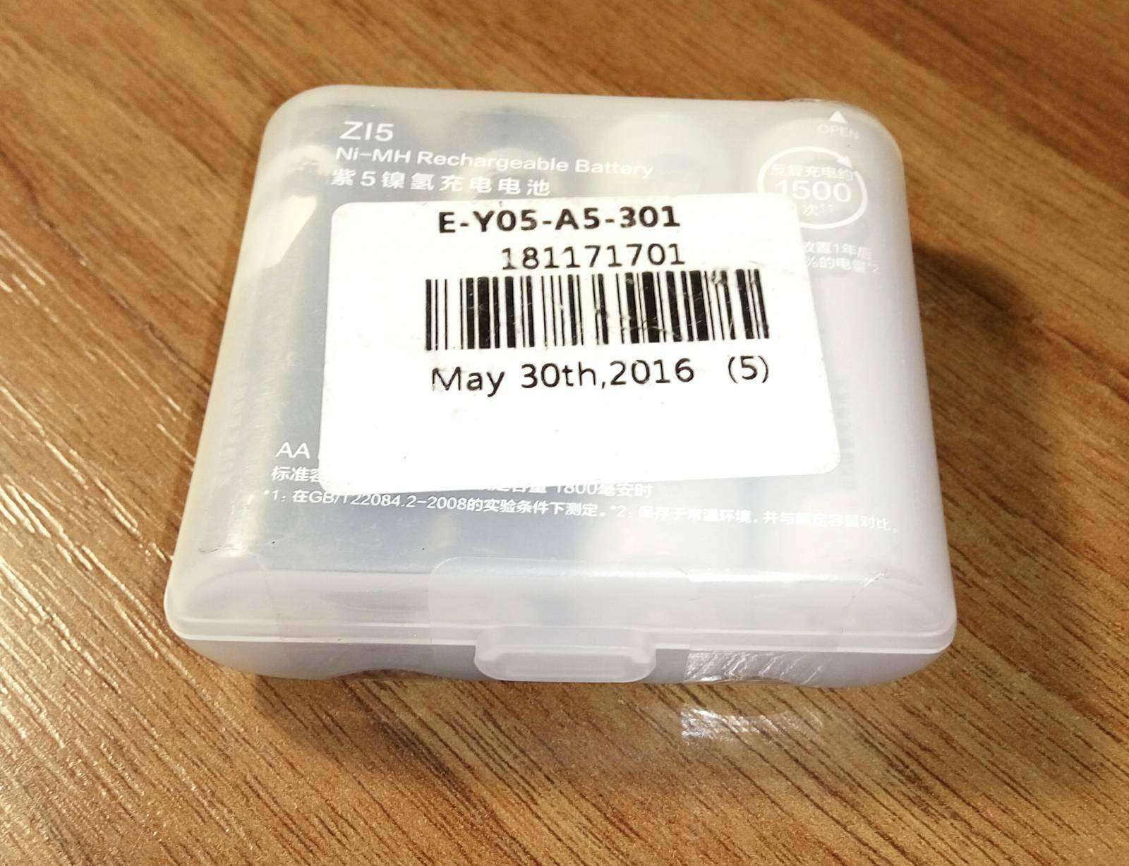 GearBest: Обзор Ni MH аккумуляторов Xiaomi ZI5 AA 1800mAh