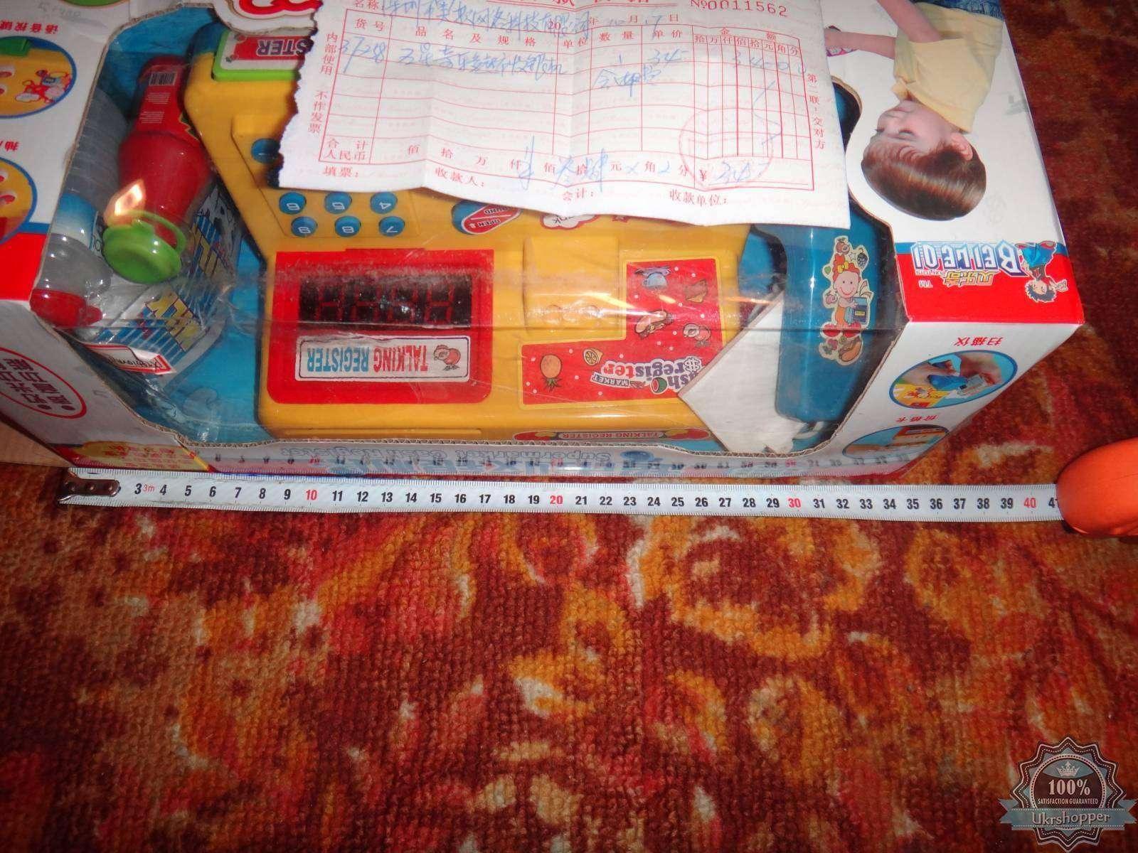 Aliexpress: Обзор игрушки кассы с товаром, песнями и сканером штрихкодов