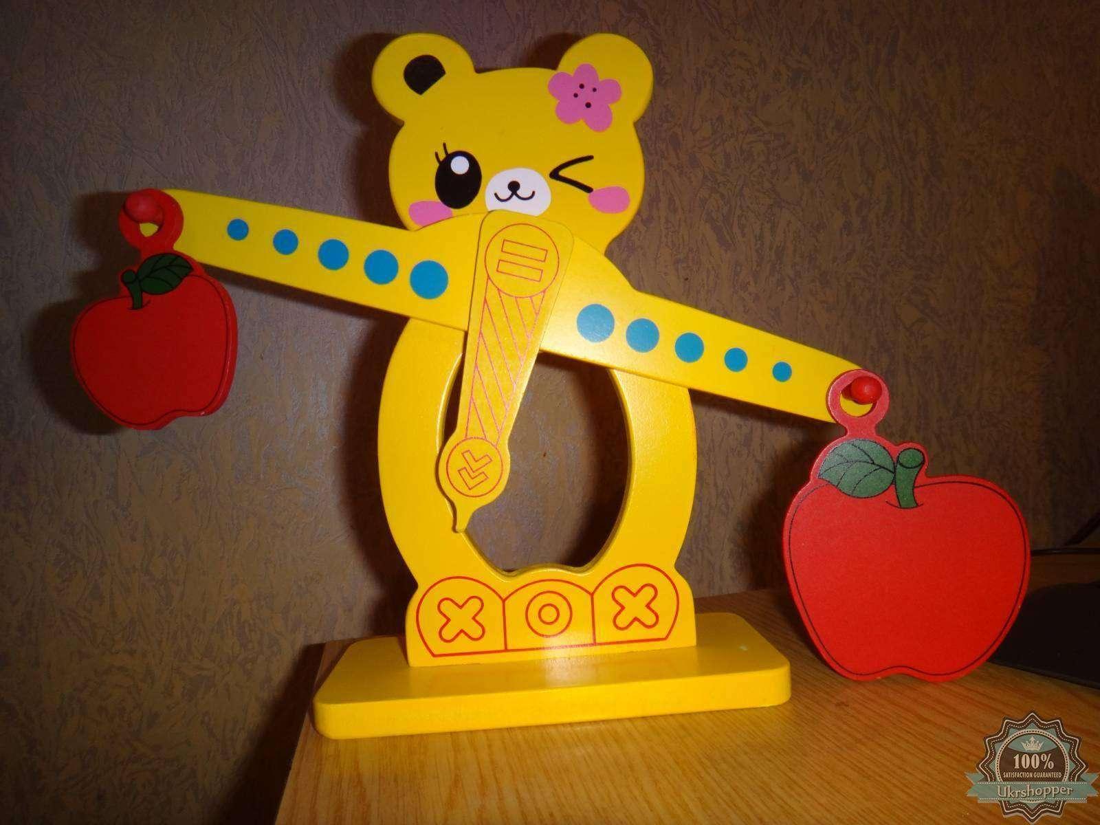 Aliexpress: Учимся считать - деревянная развивающая игрушка весы, поясняем больше меньше, учим цифры и действия с ними