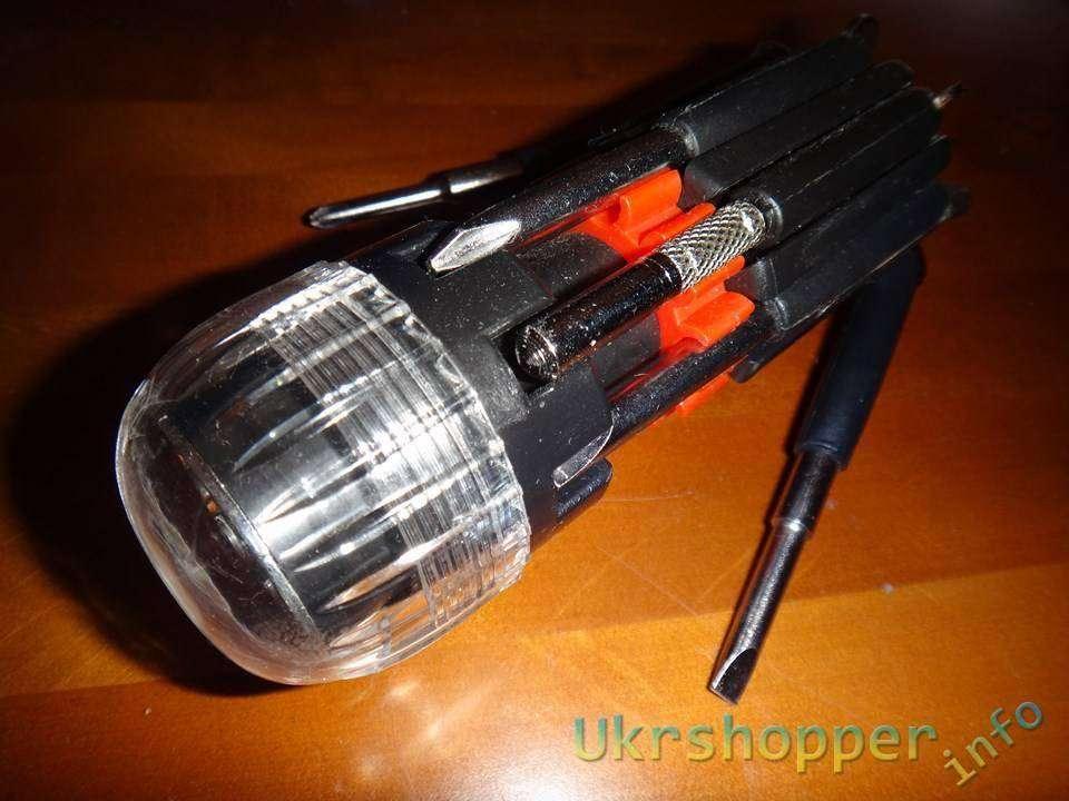 TinyDeal: Обзор небольшого мультитула на 8 отверток с фонариком для автолюбителей
