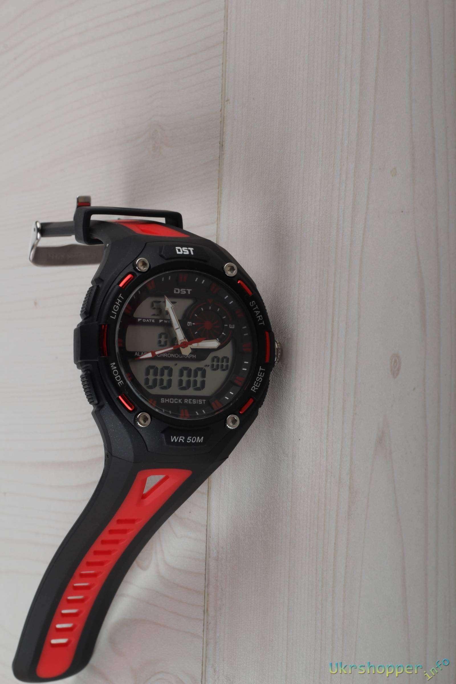 Aliexpress: Обзор спортивных кварцево-электронных часов с подсветкой