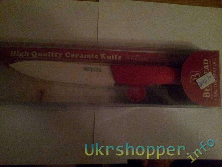 Aliexpress: Обзор большого 5'' керамического ножа Bestlead на кухню