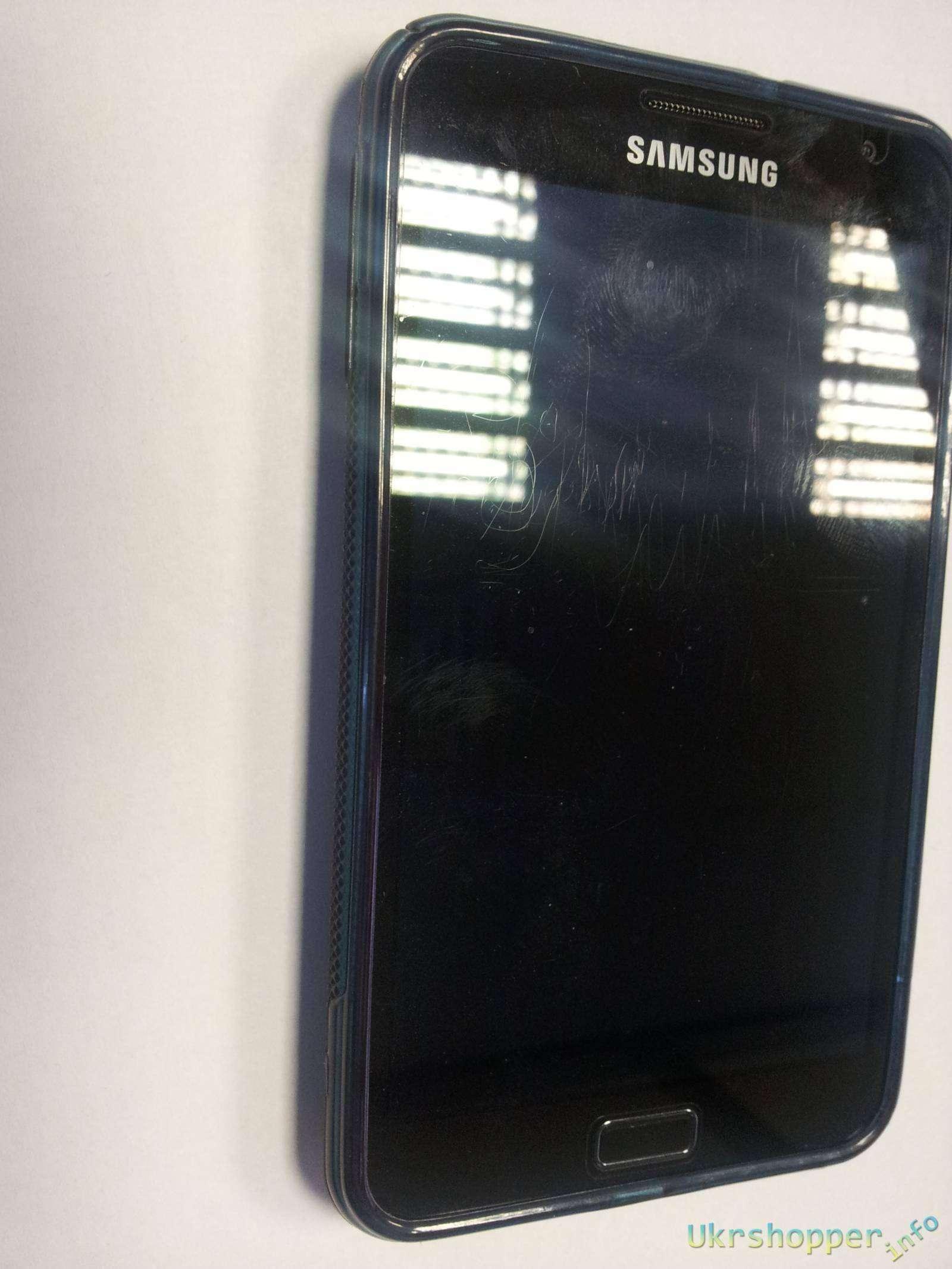 Aliexpress: Обзор оригинального силиконового бампера для телефона Samsung Galaxy Note N7000
