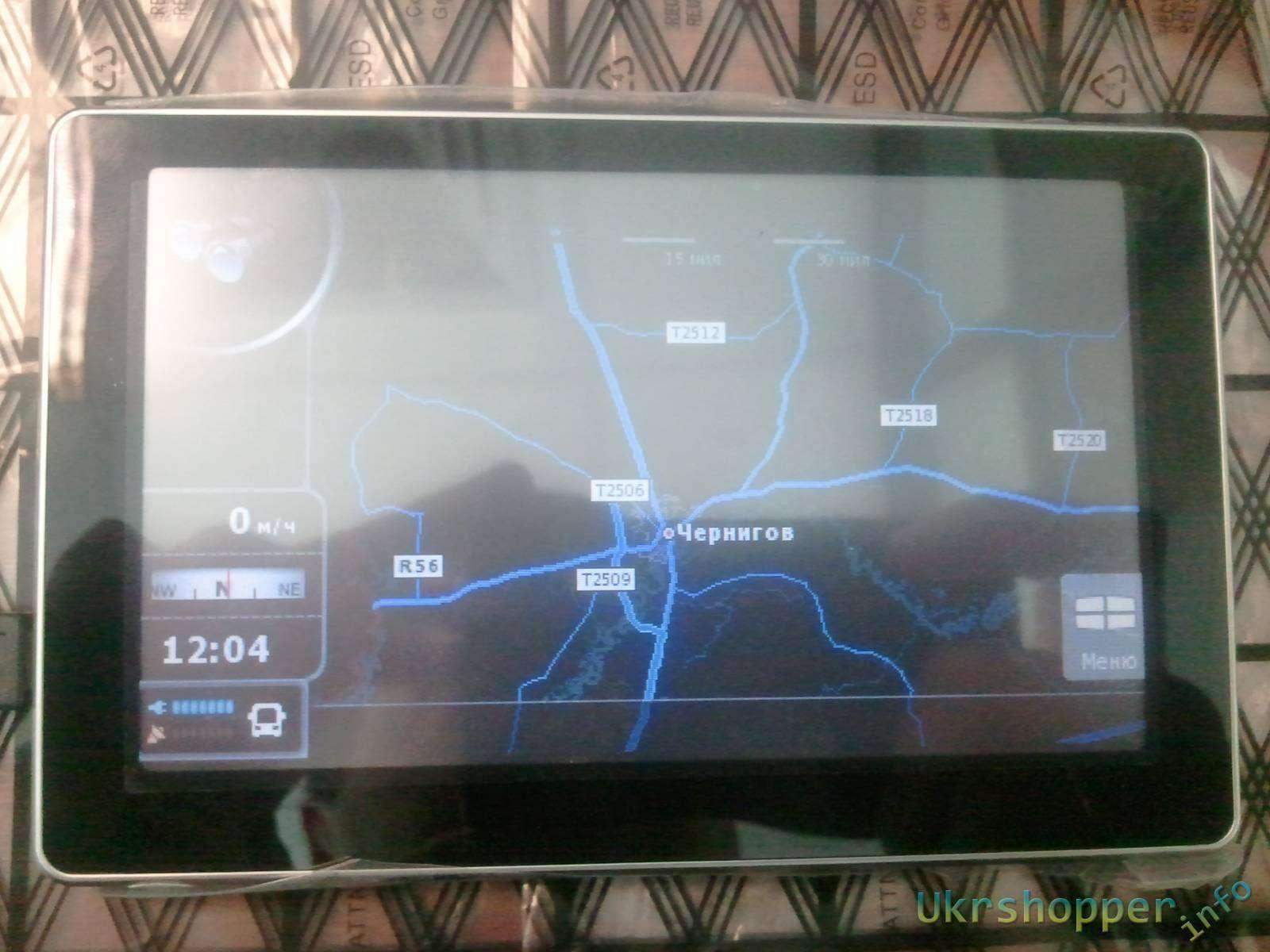 Aliexpress: Обзор автомобильного 5' GPS - навигатора с MP3 MP4 FM Transmitter