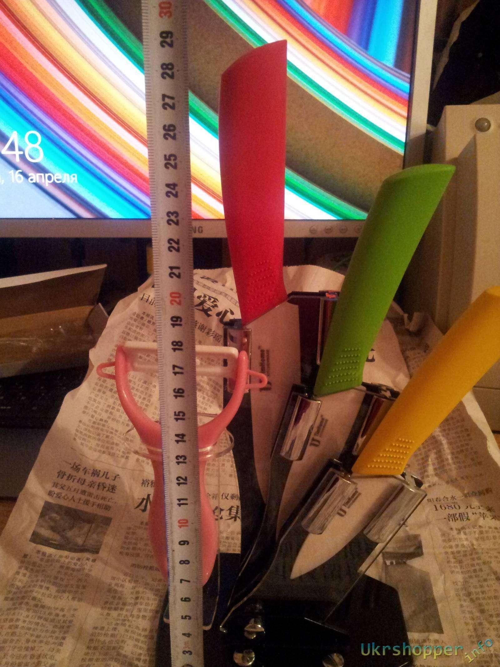 DD4: Обзор набора качественных керамических ножей с подставкой TimHome