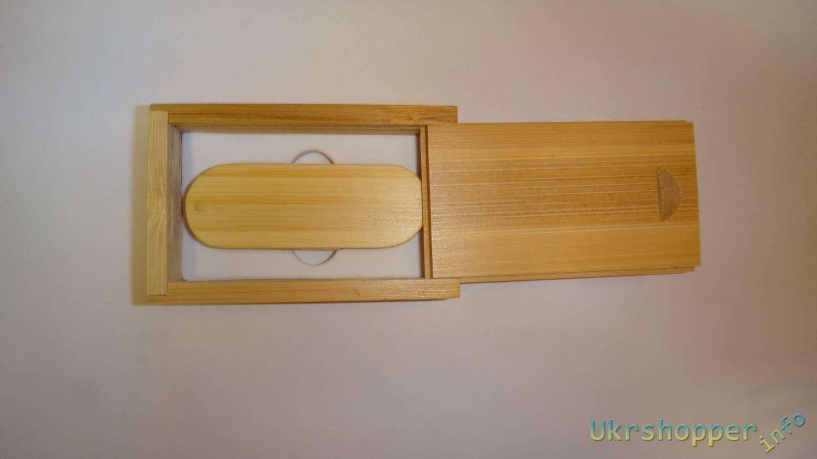 Aliexpress: Бамбуковая флешка в бамбуковой коробке на праздник к нам идут