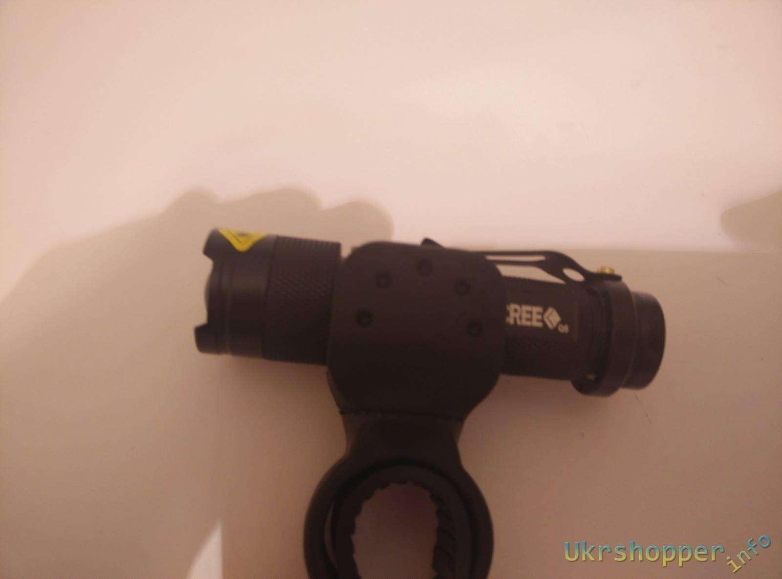 EachBuyer: Велосипедный фонарик в комплекте с универсальным креплением на руль велика - обзор