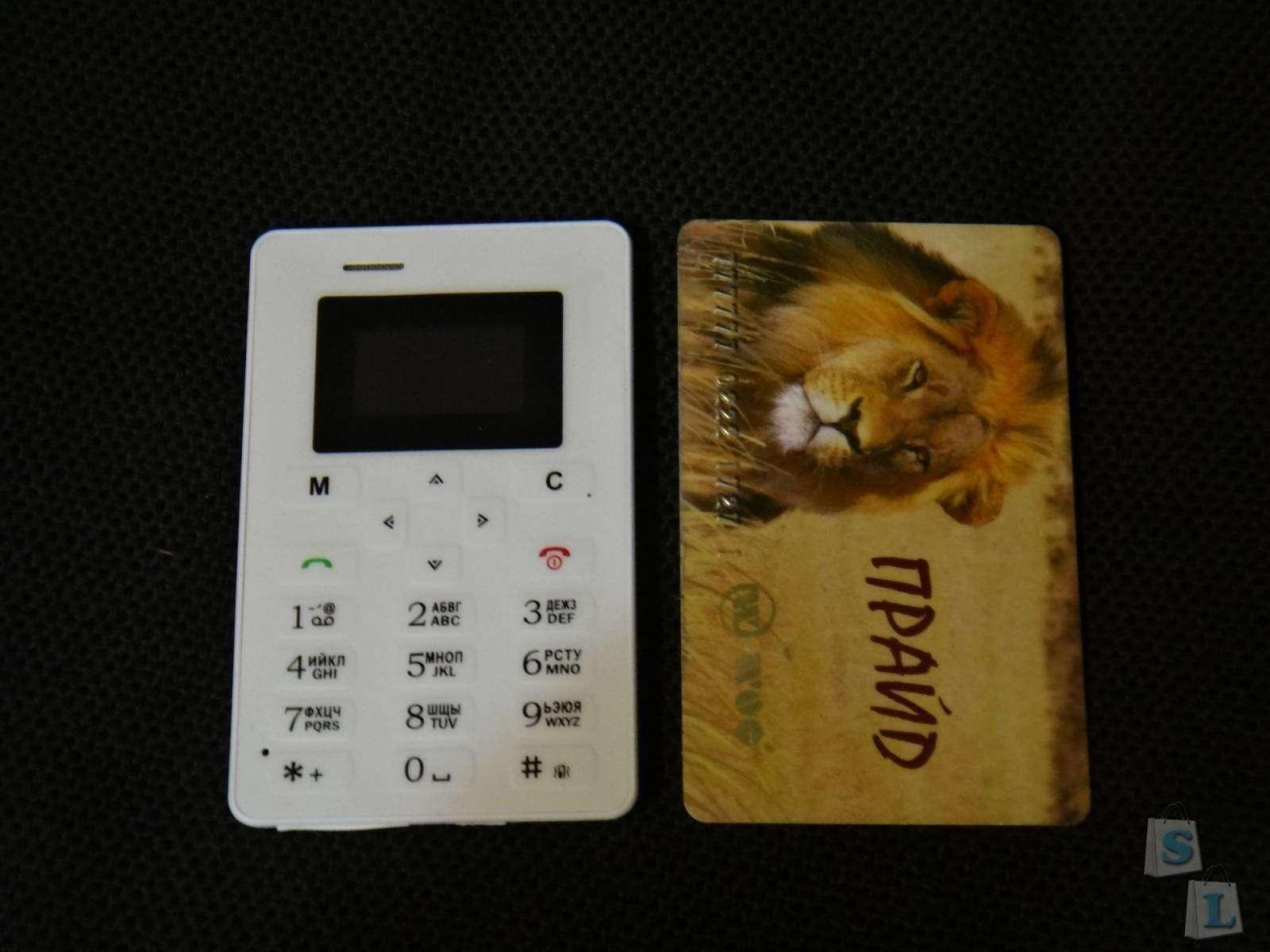 AIEK AEKU M5 самый маленький телефон-кредитка  с русскими клавишами