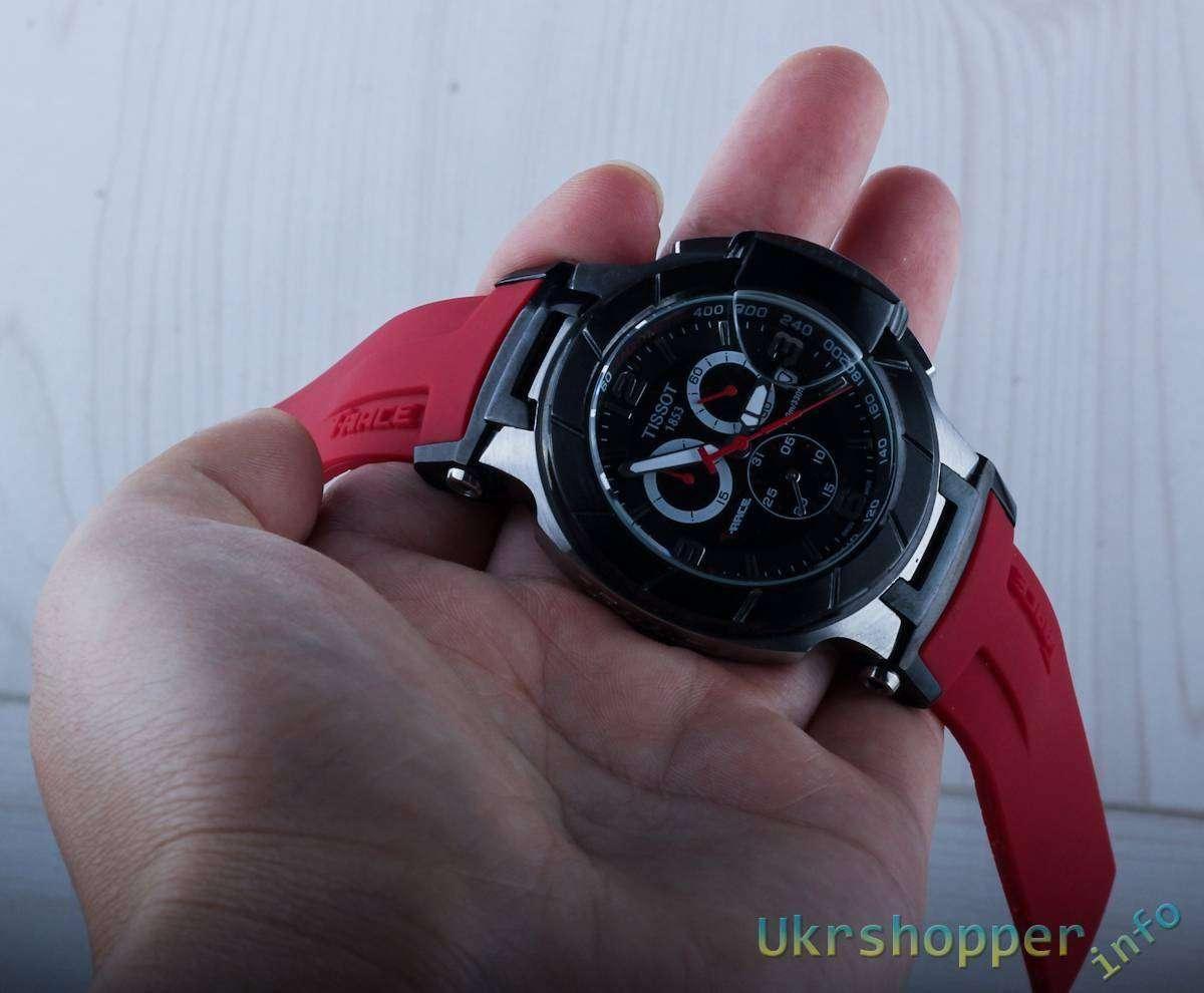 Aliexpress: Обзор реплики кварцевых часов Tissot T-Race, копия модели T048.417.27.057.01
