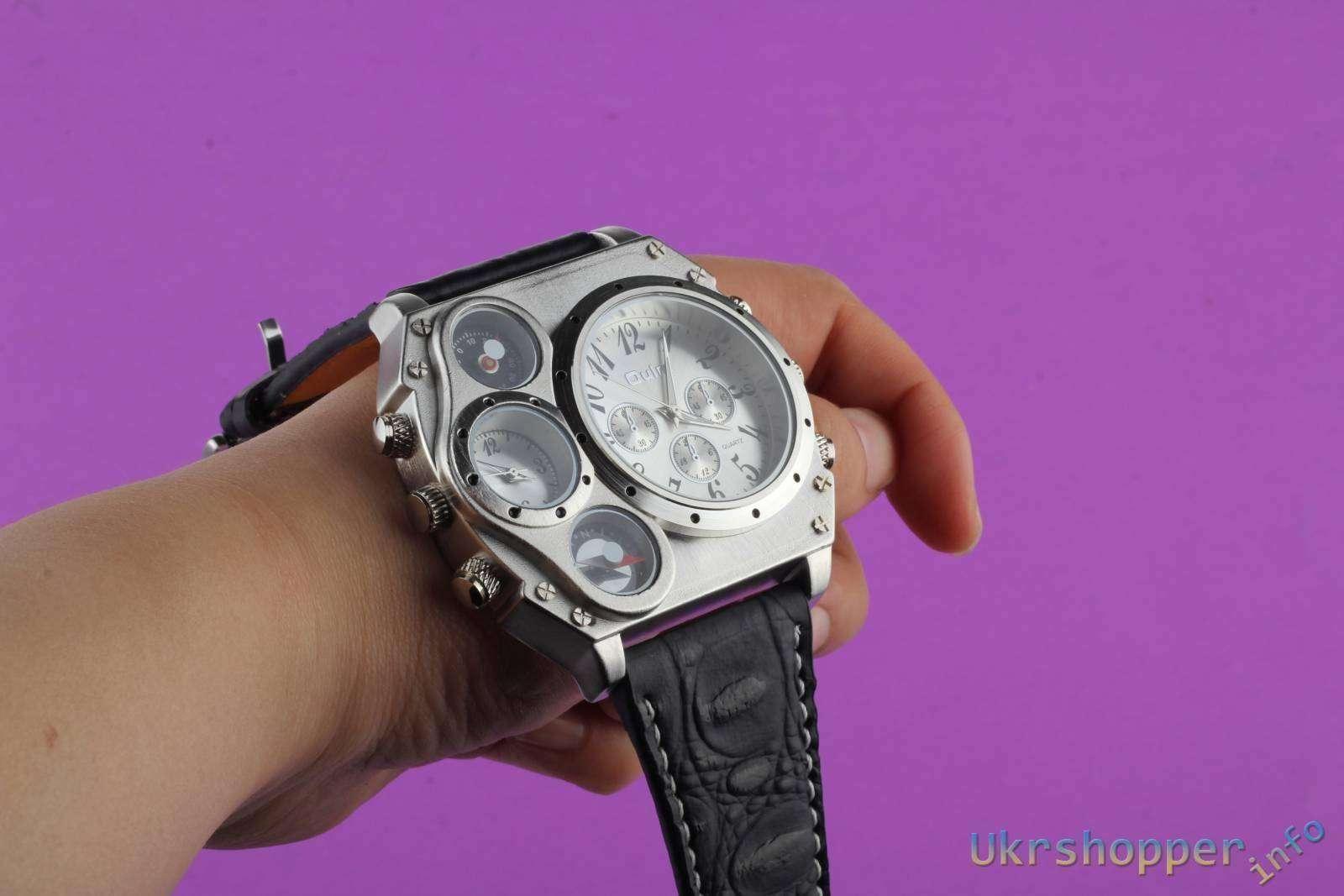 Aliexpress: Обзор огромных 4х оконных наручных часов