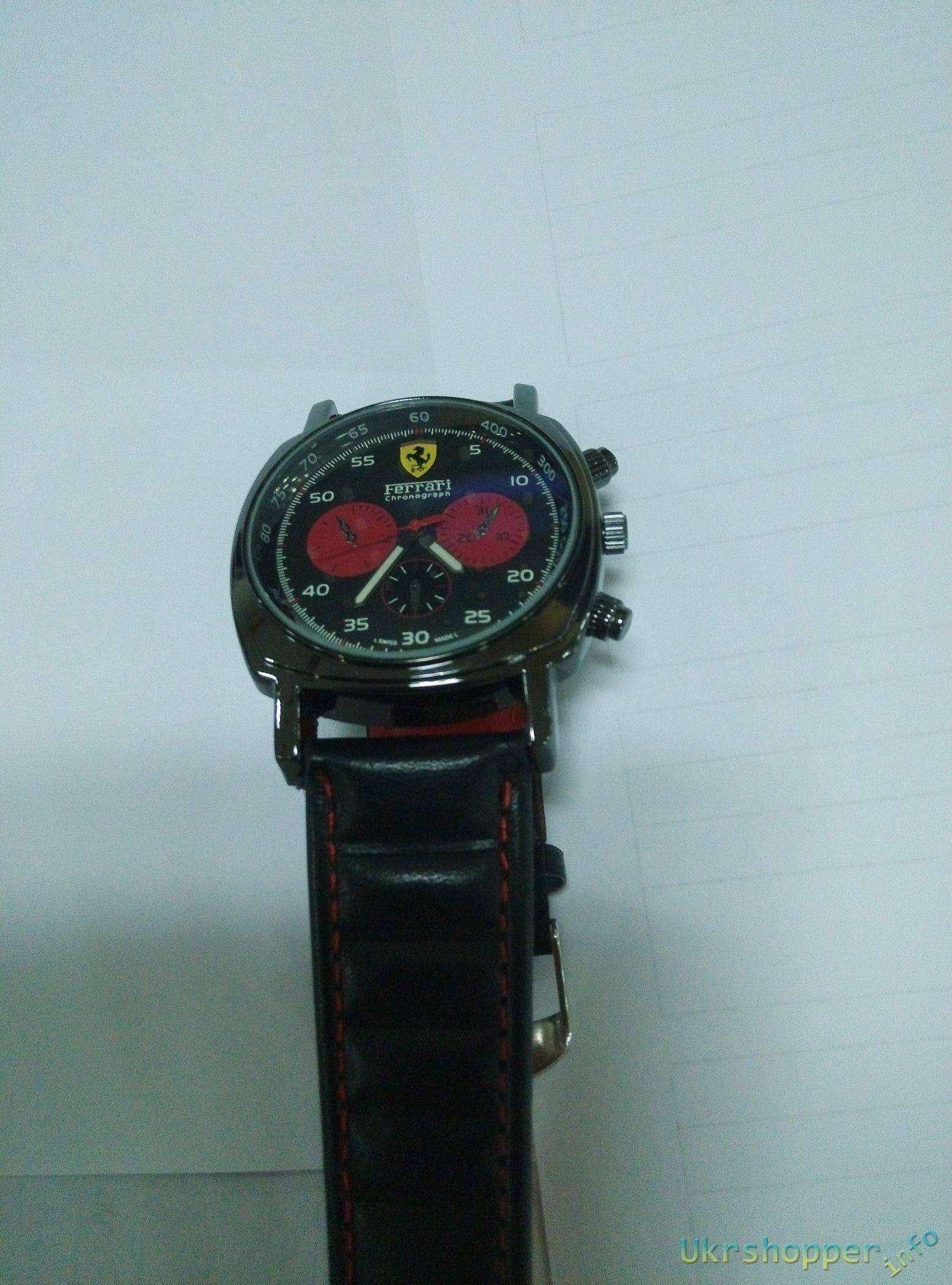 Popkind: Обзор дешевой реплки мужских спортивных часов хронографа Ferrari Panerai Chronograph