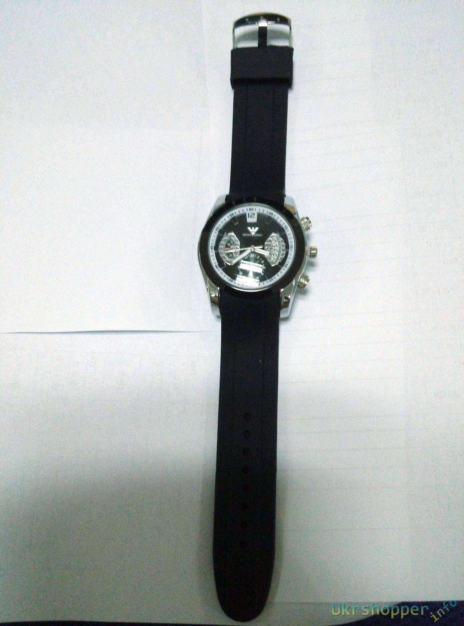 Popkind: Небольшой обзор дешевой реплки мужских часов Giorgio Armani watch