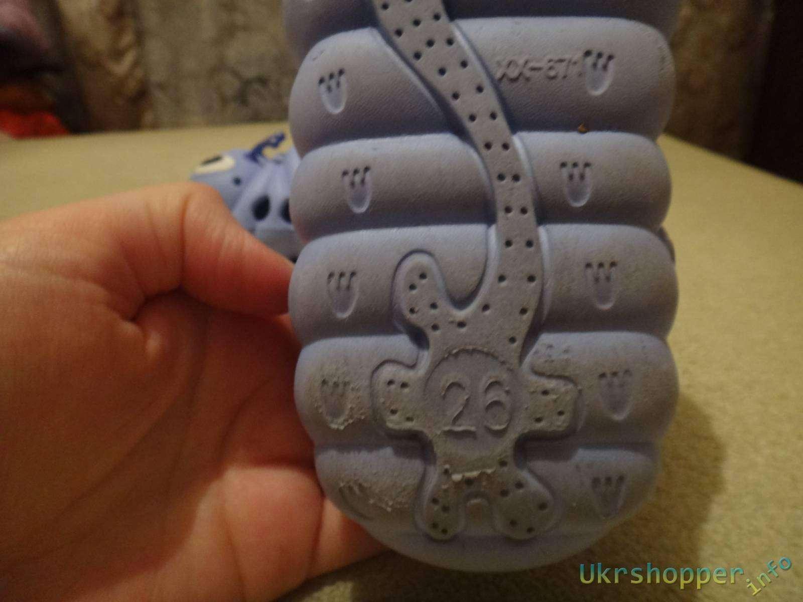 Ebay: Обзор детских кроксиков- гусениц