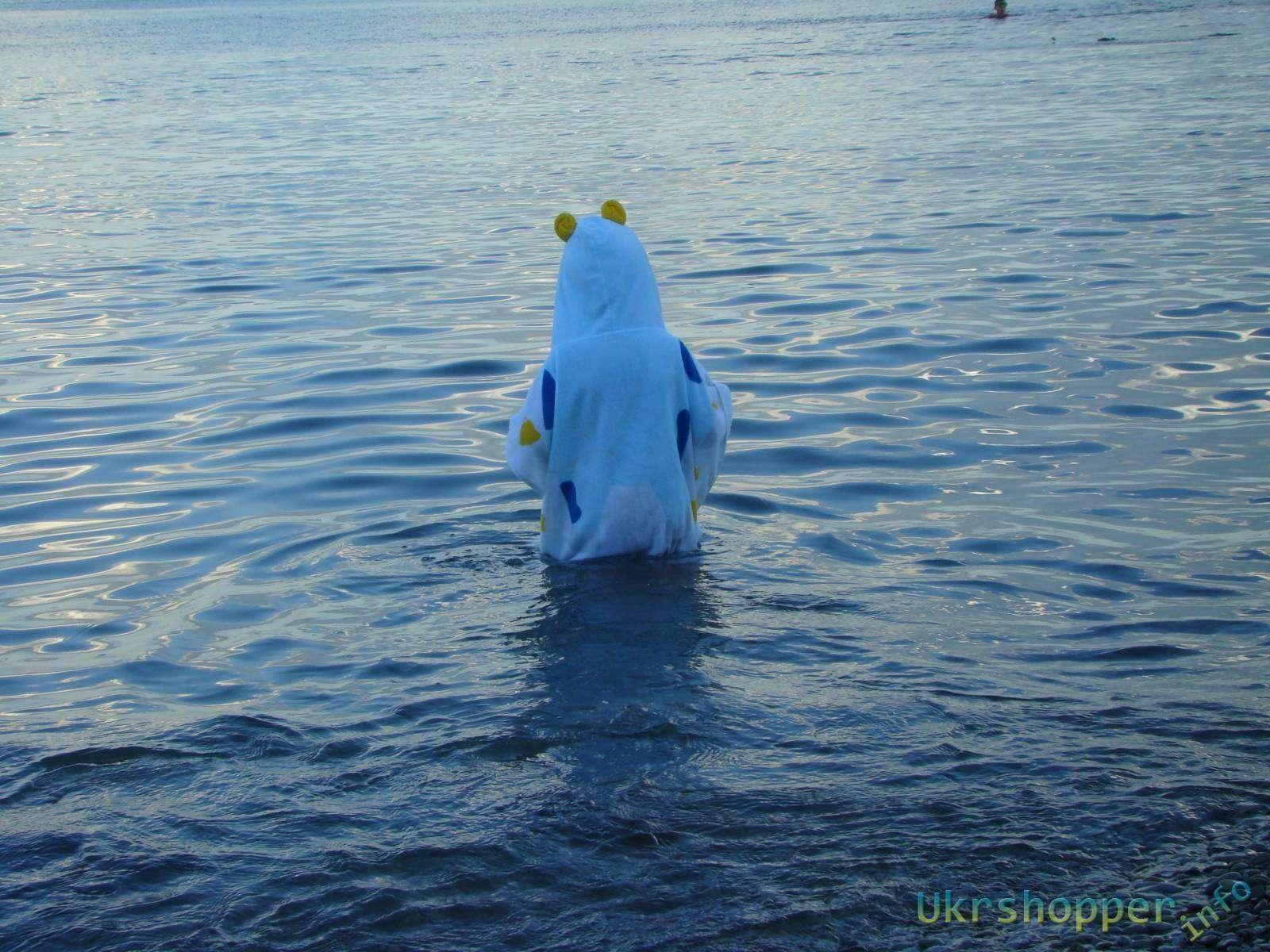 DHGate: Обзор полотенца-пончо детского для пляжа, бассейна