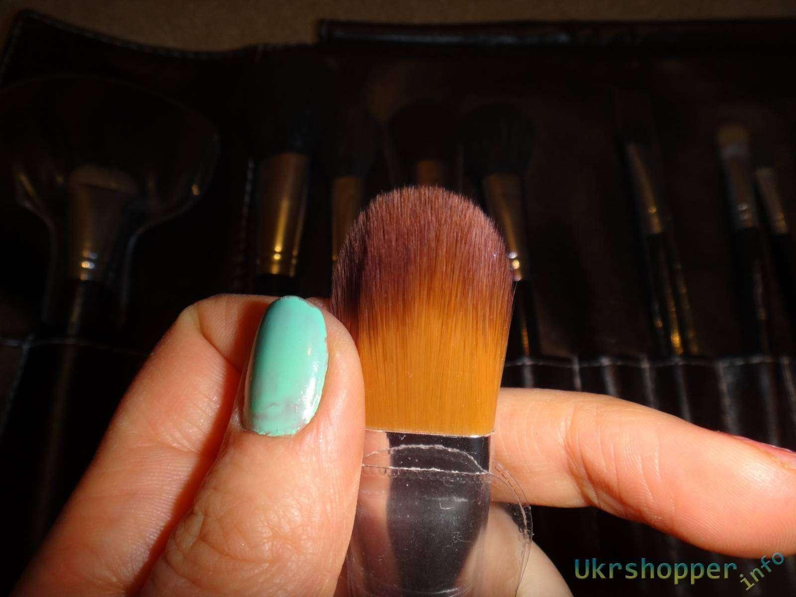 Aliexpress: Обзор набора из 24 кистей для профессионального макияжа,реплика МАС