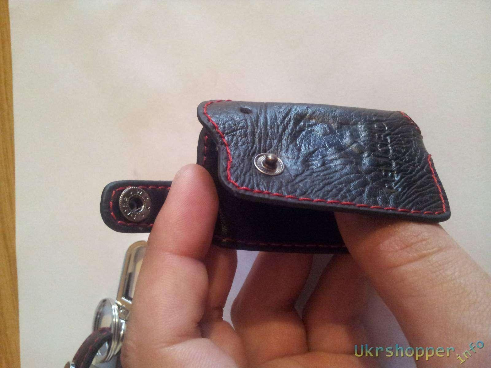 Ebay: Обзор кожанного чехла на трехкнопочный ключ от автомобиля Peugeot