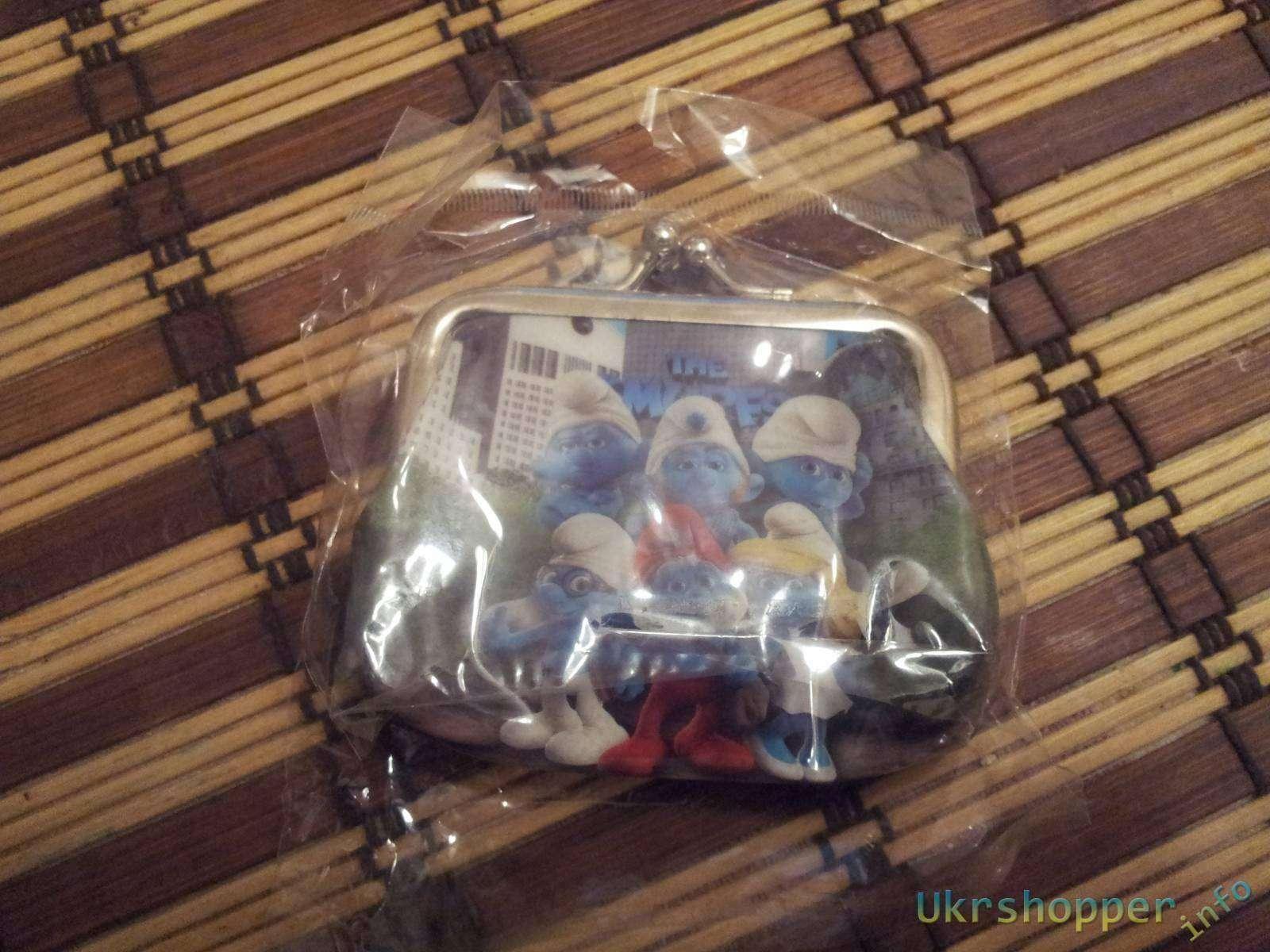 Aliexpress: Обзор детского кошелька со смурфиками