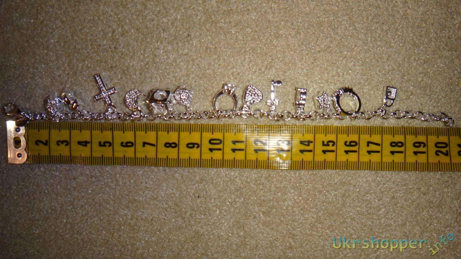 Aliexpress: Обзор серебряного браслета с подвесками 925 пробы