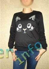 EachBuyer: Обзор женского свитшота с изображением  кошки