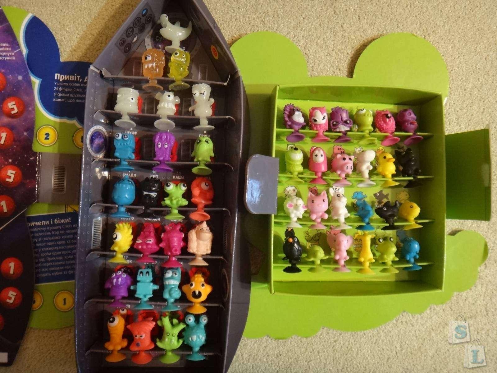 Обзор-отзыв Stikeez (липучек-игрушек) из Сильпо 'Пришельцы из космоса'