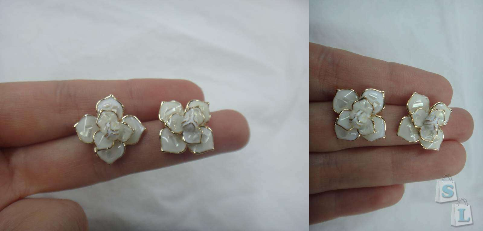 Sammydress: Обзор  красивых сережек в виде цветка