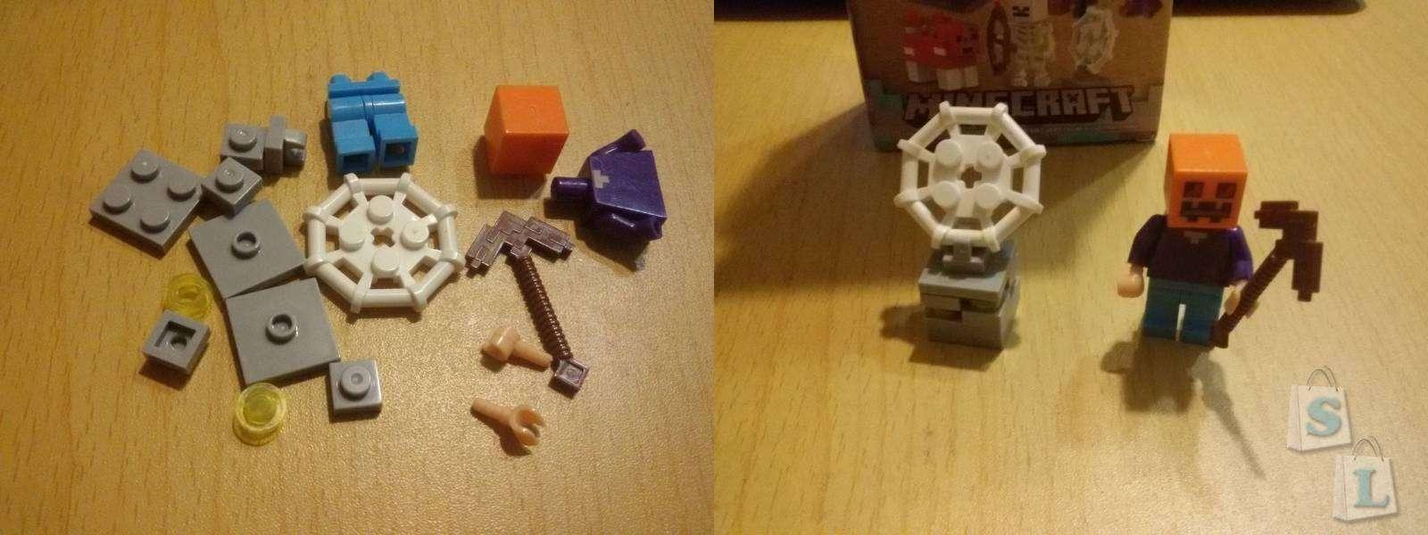 Aliexpress: Обзор конструкторов, аналог фирмы лего,  из серии Minecraft (Майнкрафт). Часть 1 'Фигурки'