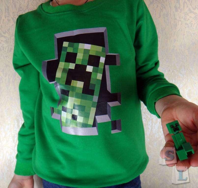 GearBest: Маленьким любителям игры Minecraft посвящается или обзор детского свитшота с изображением крипера