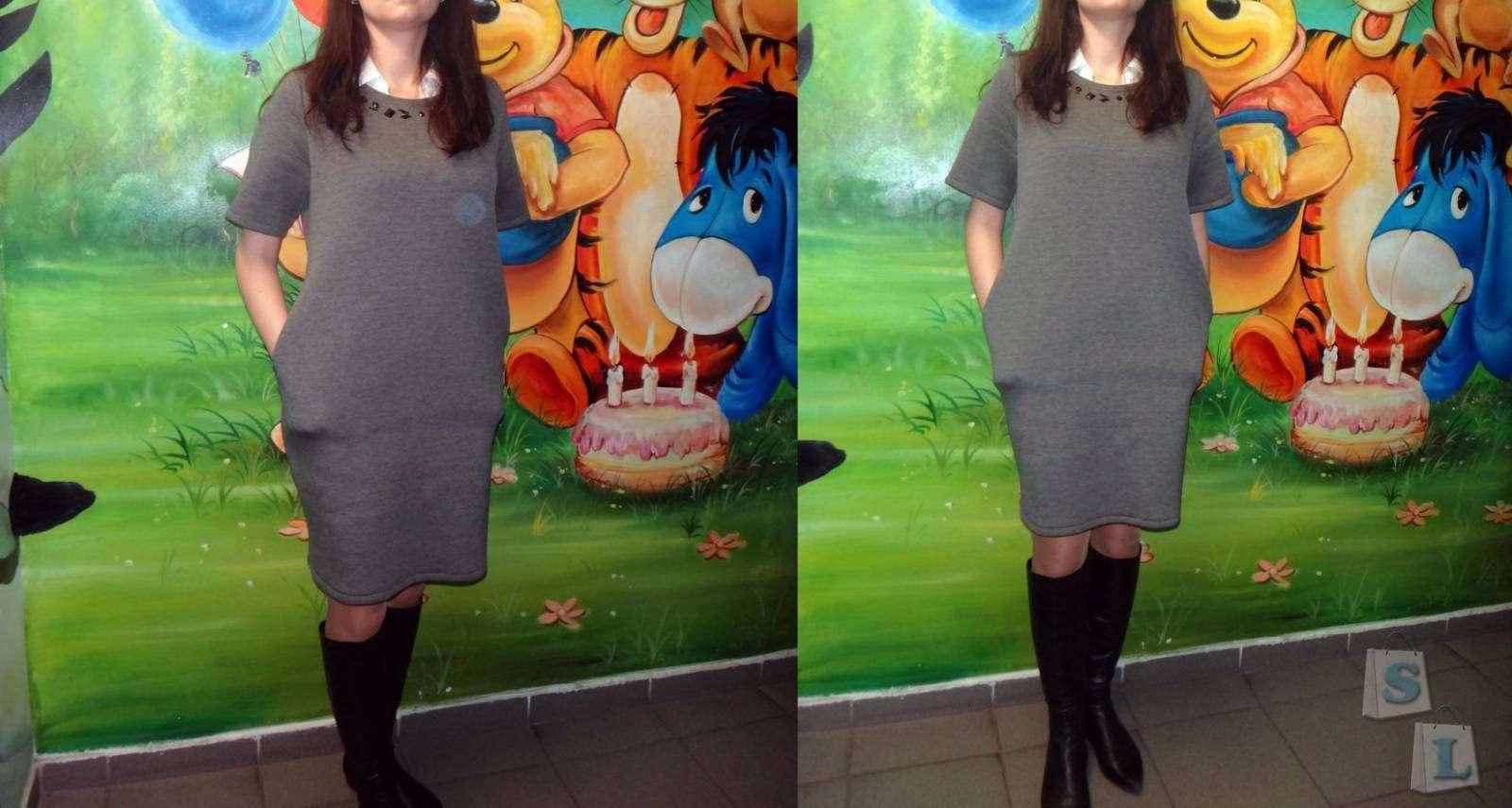 Aliexpress: Обзор женского платья свободного кроя от Haoduoyi