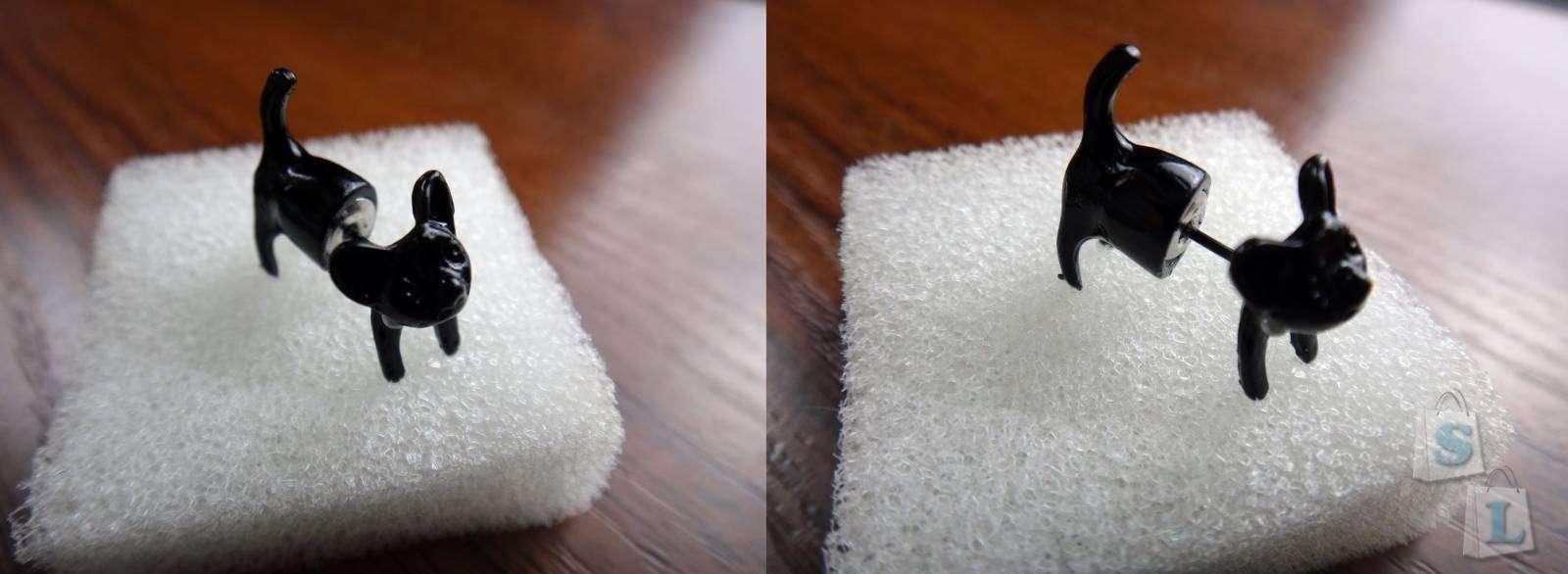 GearBest: Обзор симпатичной сережки - котенка