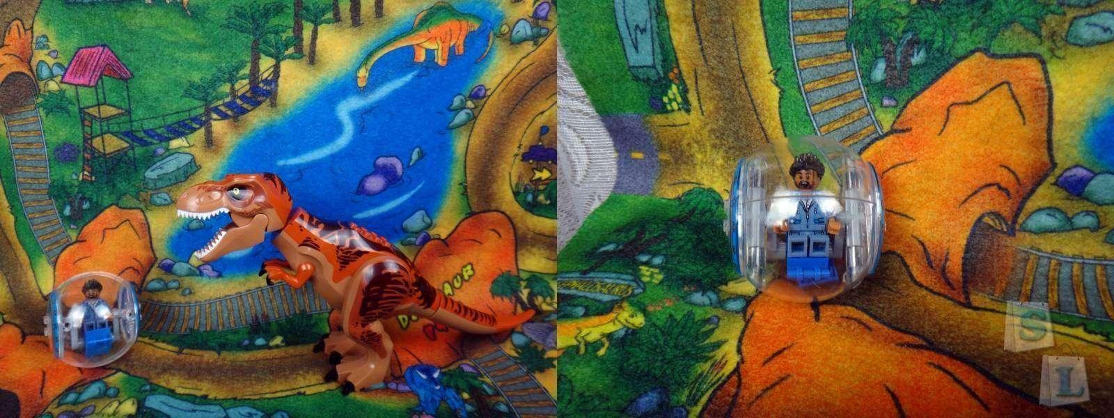 Aliexpress: Обзор конструктора,  аналога лего из серии 'Мир Юрского периода' большого динозавра  с прогулочным шаром