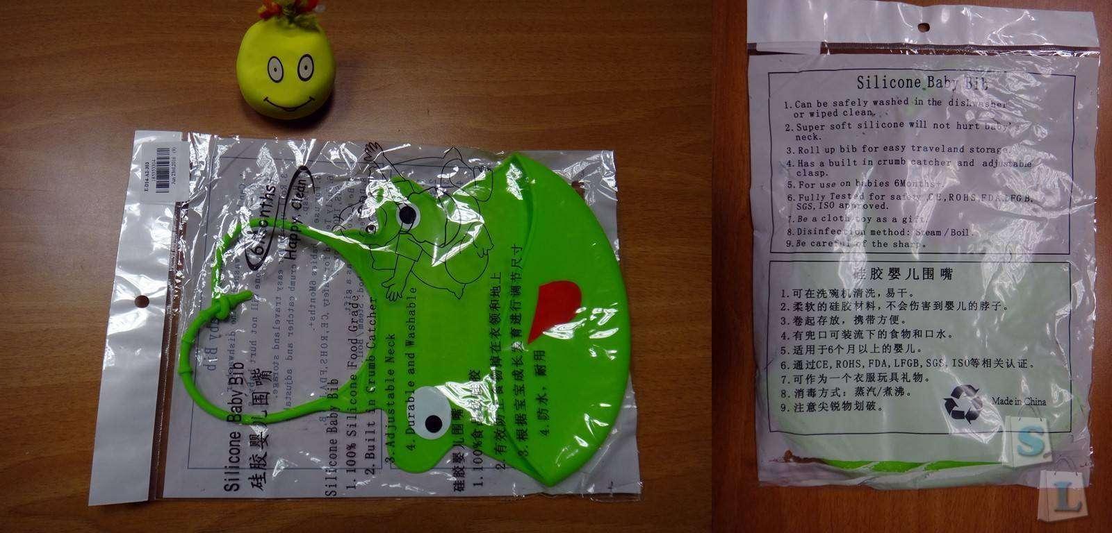 GearBest: Детский силиконовый нагрудник- слюнявчик для первого прикорма
