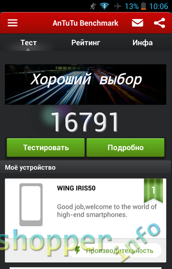 TinyDeal: Смартфон WING WTD2