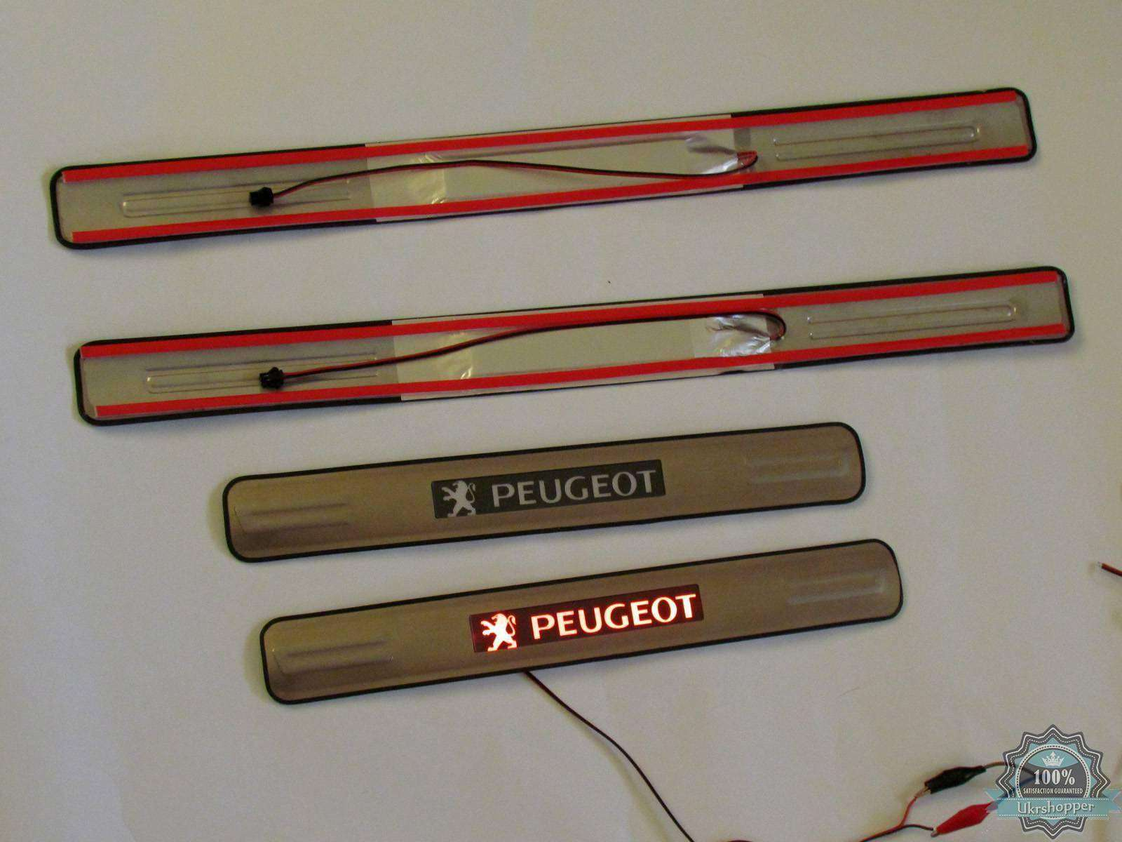 Ebay: Светящиеся накладки на пороги для Peugeot 307, 308