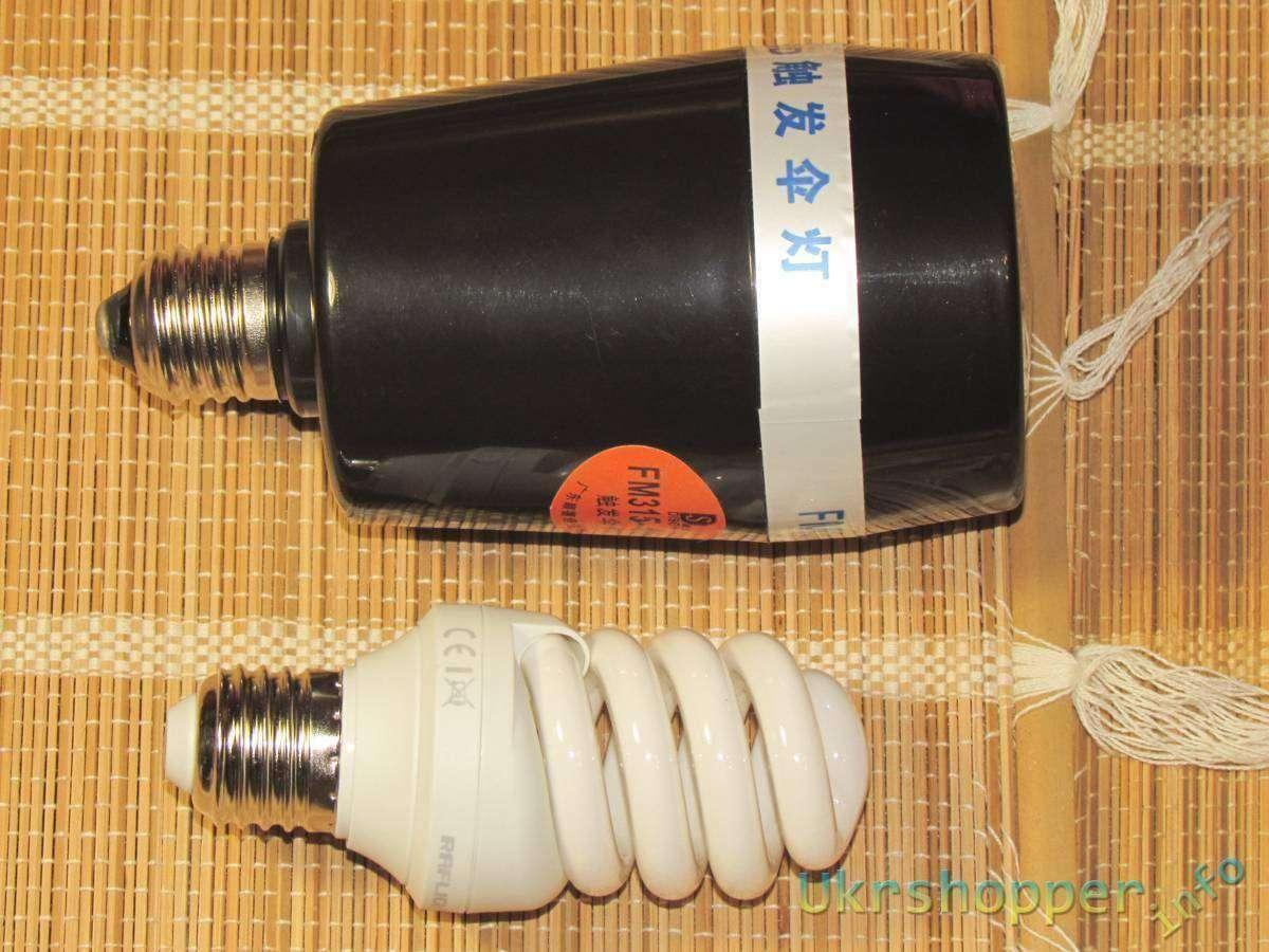 DealExtreme: Недорогая универсальная внешняя фотовспышка под патрон от лампочки