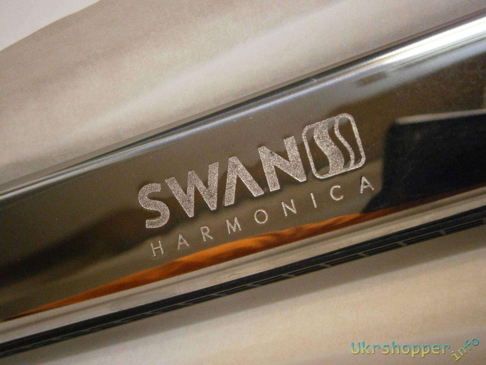 Ebay: Быстрый обзор Губной гармошки SWAN 24 Double Hole Tremolo Harmonica with key D